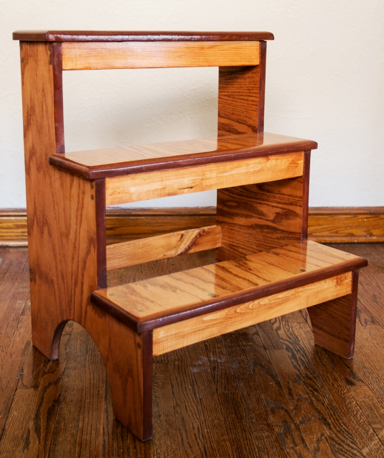 Three Steps. Or seats. Or shelves. Or steps. Whatever's clever.