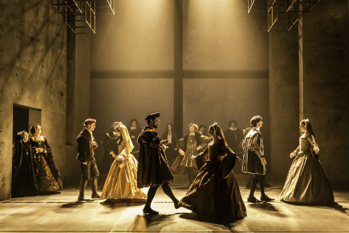 The Royal Shakespeare Company's 'Wolf Hall'.  Image:  Johan Persson.