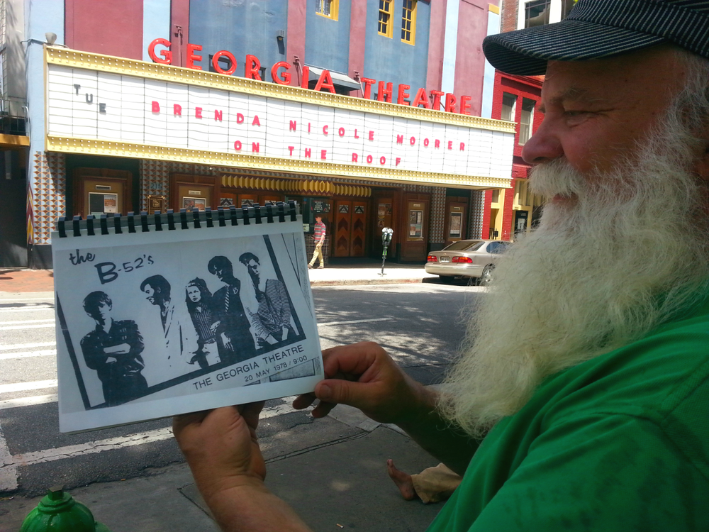 Tour guide Paul Butchart at the Georgia Theatre in Athens, GA