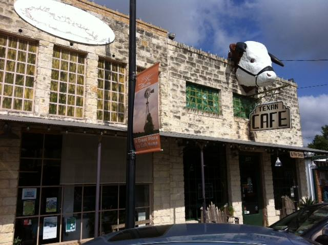 The iconic Texan Cafe (aka the Cowpoke Cafe)  in Hutto, TX (image courtesy of their facebook)