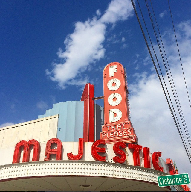 The nostalgic sign of Atlanta's Majestic Diner // photo courtesy of li5aluna via Instagram
