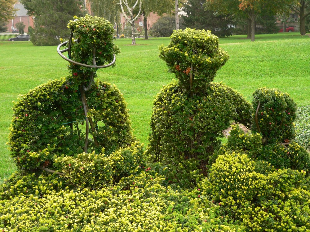 A closeup of topiary mastery / photo courtesy of Friends of the Topiary Park