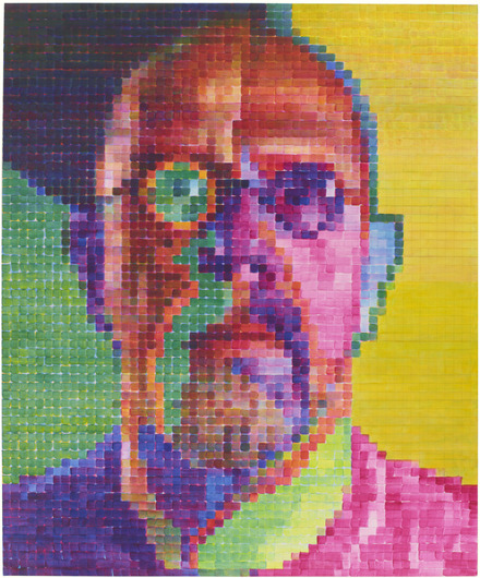 Sel Portrait I, 2014 by Chuck Close / image courtesy of Pace Gallery