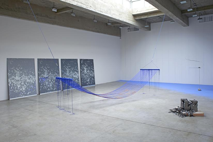 Installation by Sarah Sze / image courtesy of Tanya Bonakdar Gallery