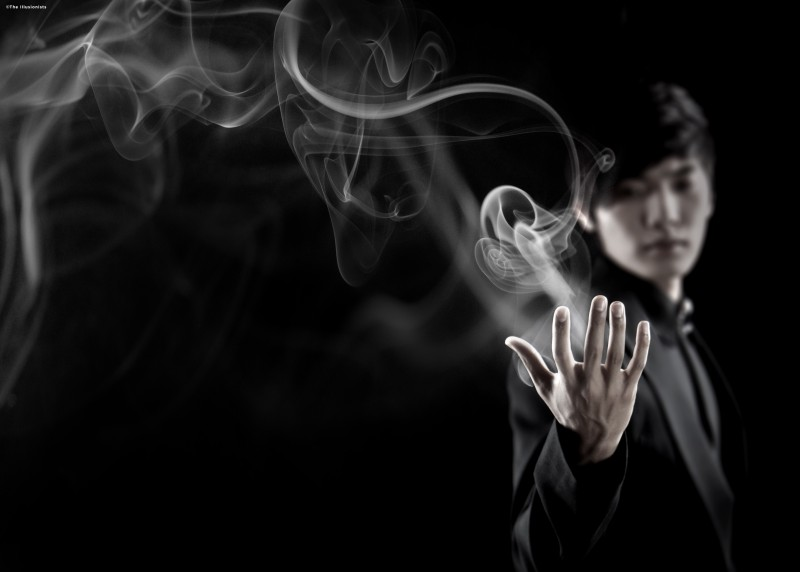 The Manipulator aka Yu Ho-Jin, one of the seven Illusionists in the touring magic ensemble / photo courtesy of www.theillusionistslive.com