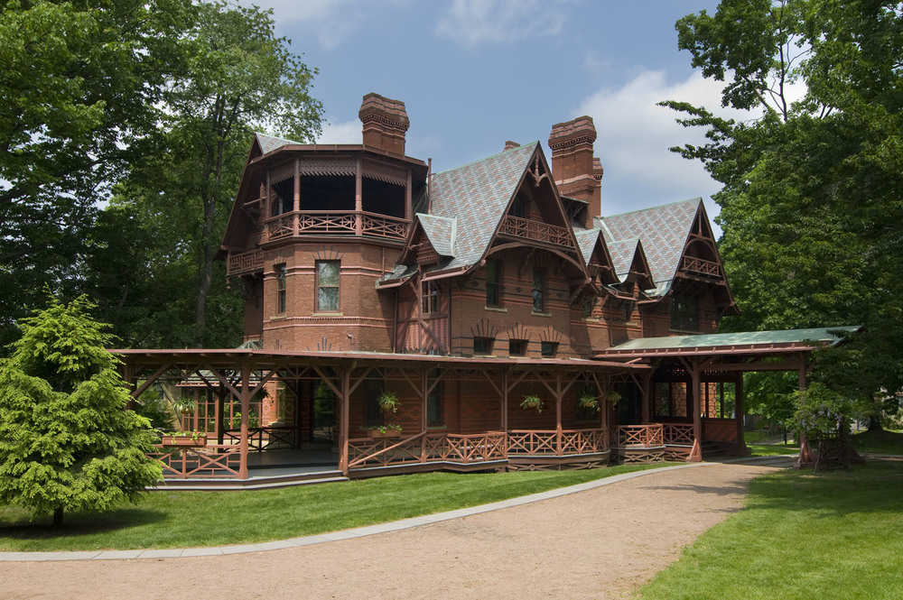 The grand exterior of the Mark Twain House & Museum / Photo by John Groo