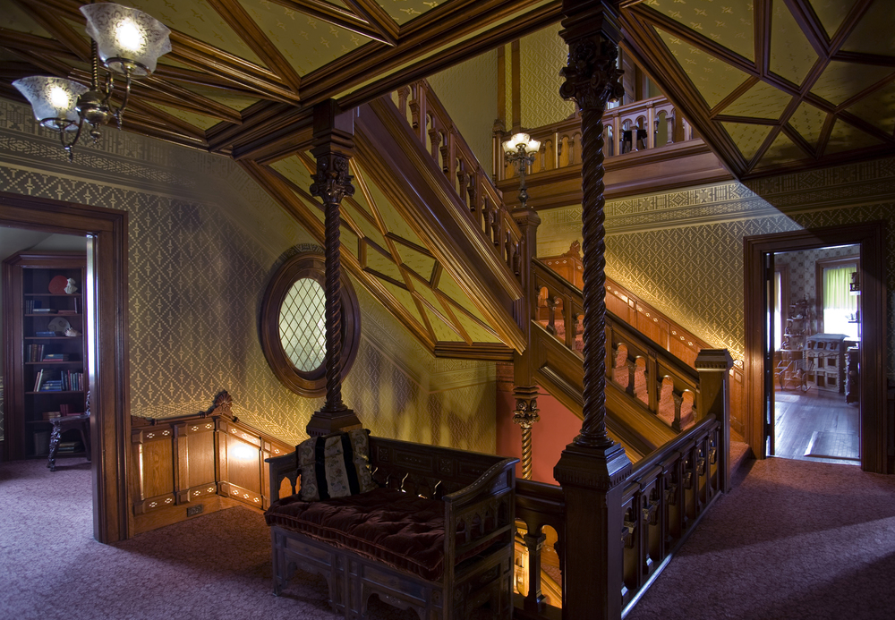 the stairwell of the Twain House / Photo by John Groo