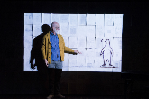 Andrew Dawson in Gorey: The Secret Lives of Edward Gorey. Photo by Jenny Anderson.