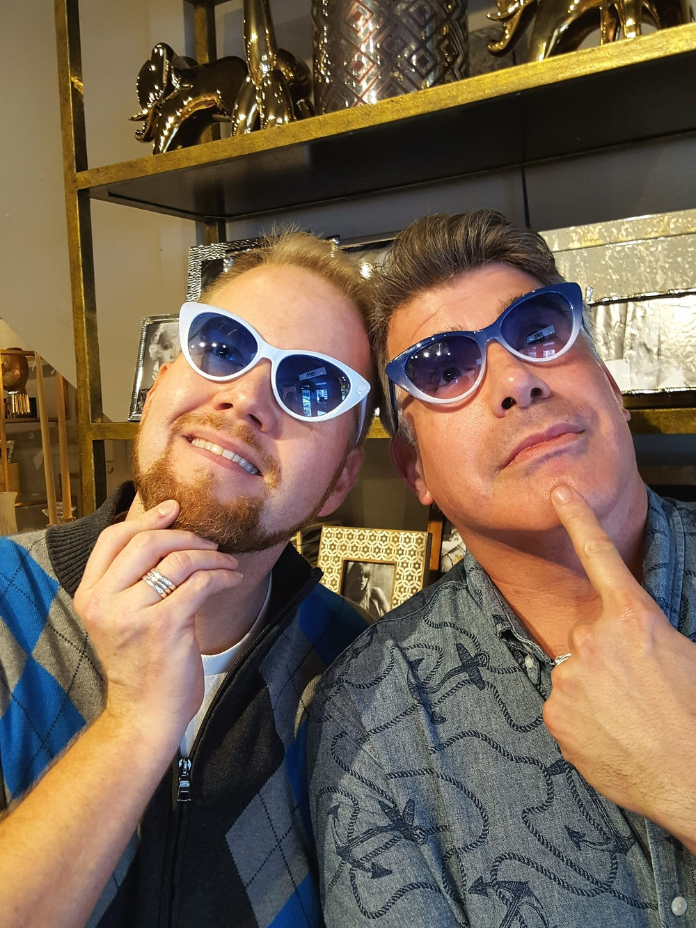 Michael Mackie and Bryan Batt finding things a little shady in New Orleans.