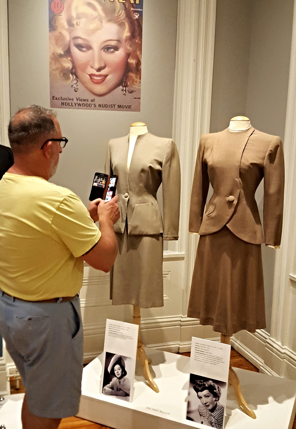Actresses suits by designer Irene Lentz - who was a protege of Edith Head.