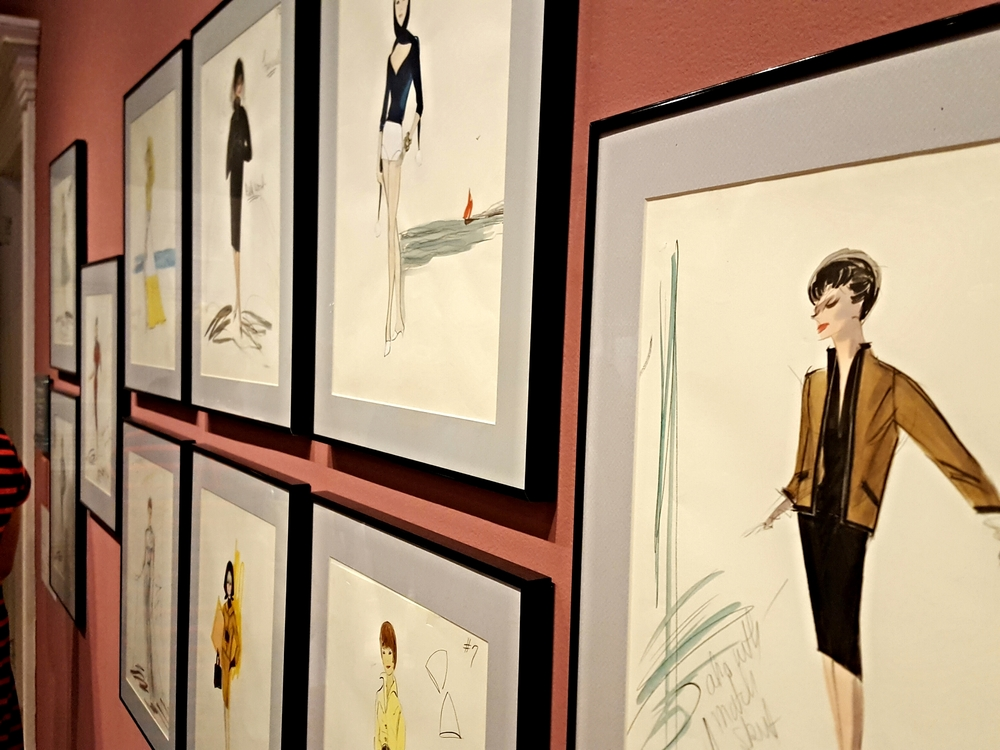 Some of Edith Head's original sketches were found a few years ago and are now on display as part of the exhibit.