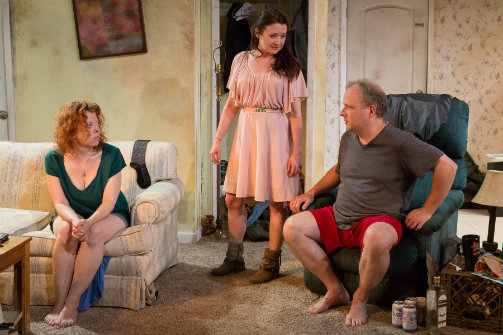 Bethany Geraghty, Vanessa Vache, and Sidney Williams in Strange Country. Photo by Hunter Canning.