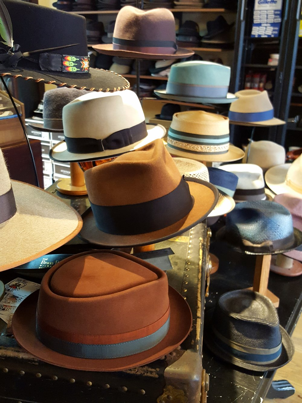 Hats galore at The Brass Rooster