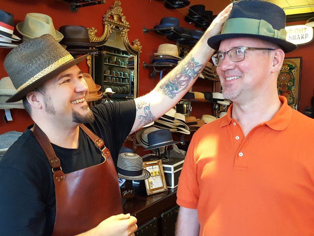John McLaughlin &customer Mark Werner.