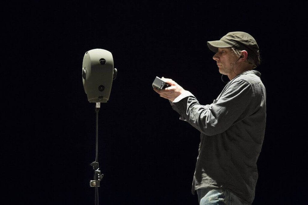 Simon McBurney in The Encounter. Photo by Robbie Jack.