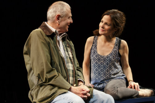 Denis Arndt and Mary-Louise Parker in Heisenberg. Photo by Joan Marcus.
