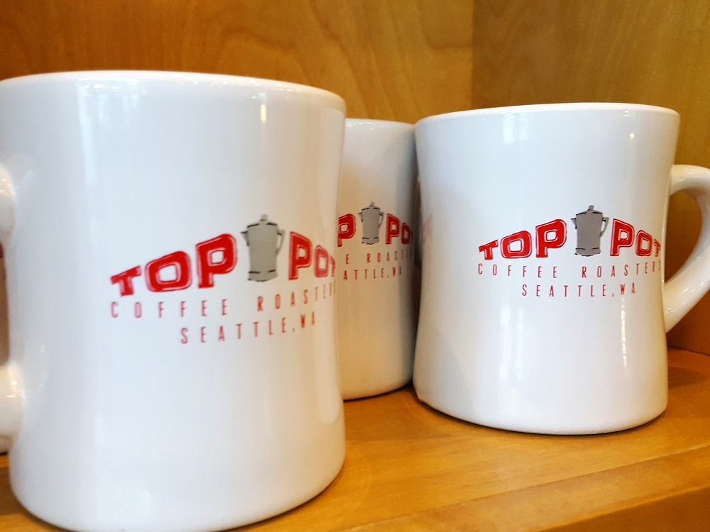 Top Pot Seattle coffee mugs