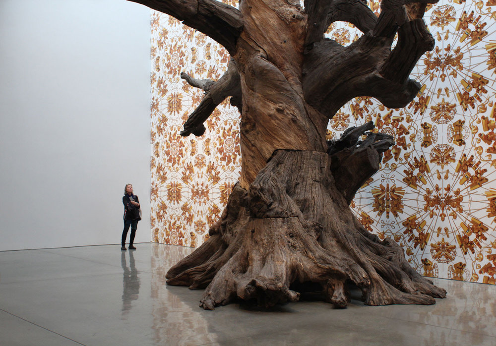 Ai Weiwei 2016 Roots and Branches. A 25 feet high conceptualize tree made of 7 others