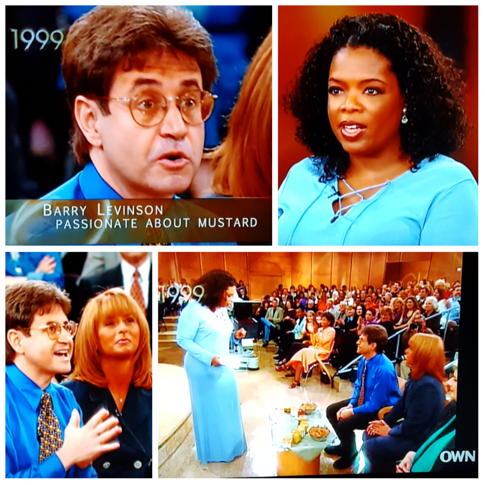 Dijon vu! Curator Barry Levenson of the National Mustard Museum being featured on Oprah's TV show in 1999.