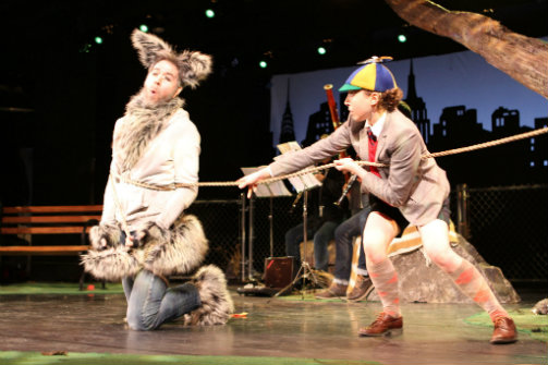 Daniel Pettrow and Macy Sullivan in  Peter & The Wolf .