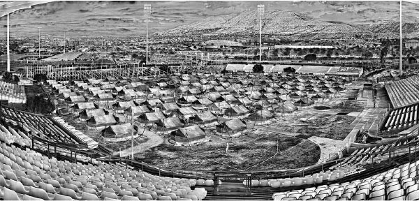 Richard Mosse: If you look closely, you can see tents.