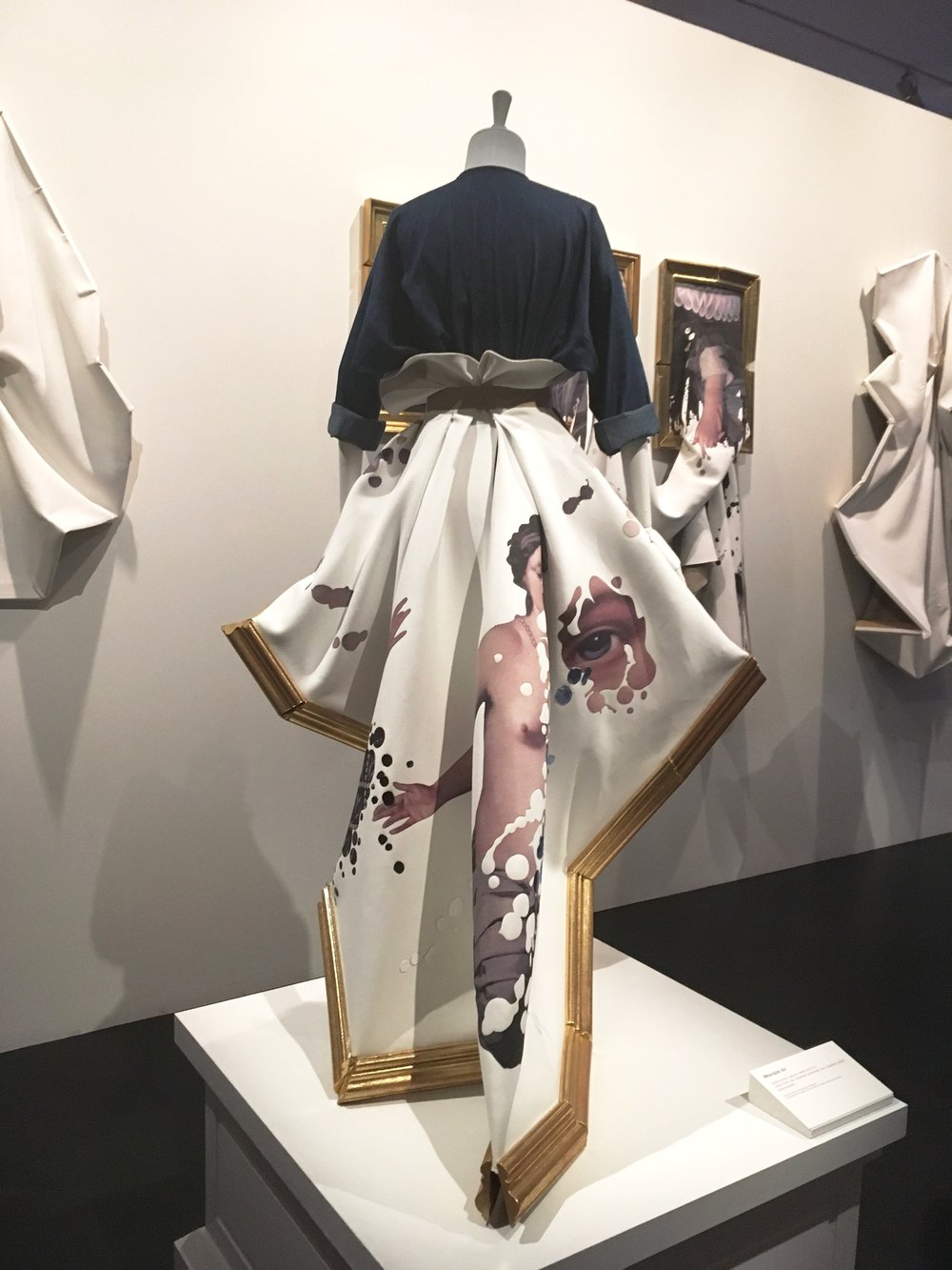 Viktor & Rolf: Wearable Art collection real wooden picture frames attached to fabric. Haute Coutre, Autumn - Winter 2015