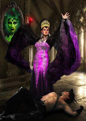 Minx as Evil Queen.