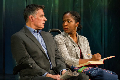 Robert Cuccioli and Danielle Leneé in White Guy on the Bus. Photo by Matt Urban/Mobius New Media Inc.