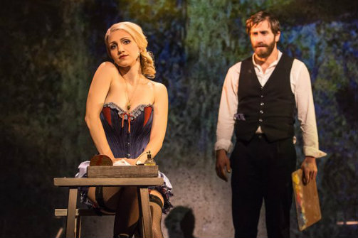 Annaleigh Ashford and Jake Gyllenhaal in Sunday In The Park With George. Photo by Matthew Murphy.