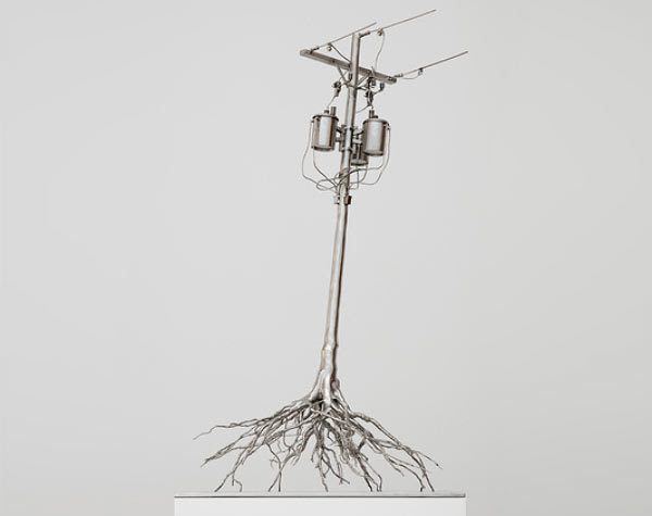 Roxy Paine Steel sculpture