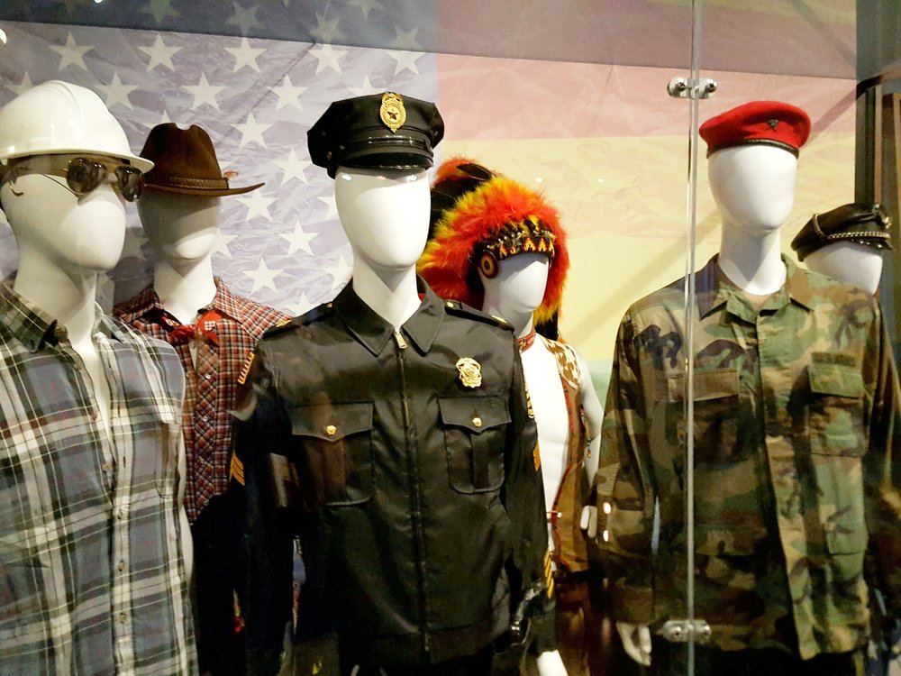 The original outfits worn by The Village People. Why they didn't pose the mannequins in a YMCA pose is beyond us?