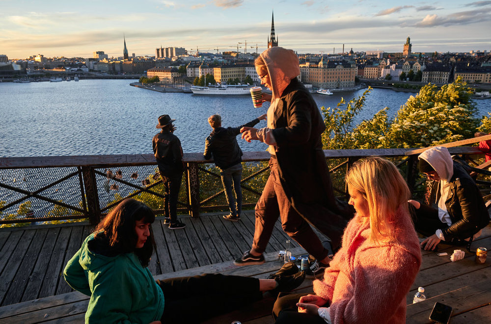 At the Monteliusvagen, you can watch the sunset, with Gamla Stan (the Old Town) in the background. Credit: David B. Torch for The New York Times