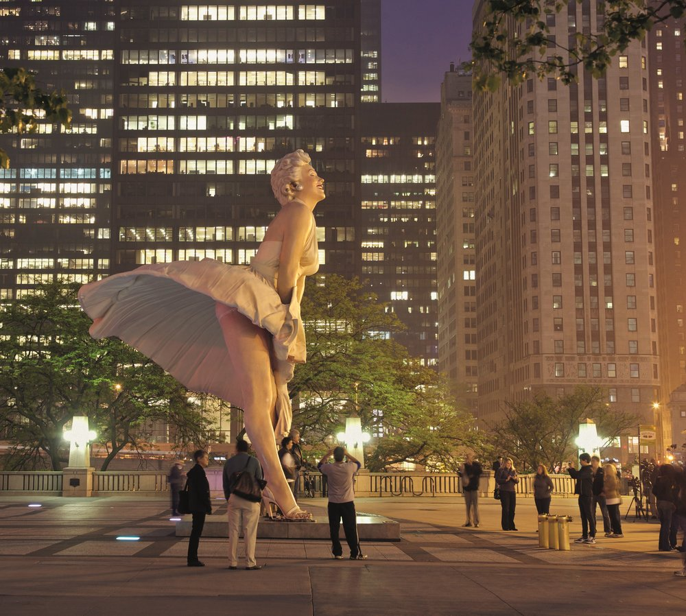 """Forever Marilyn"" by Seward Johnson."