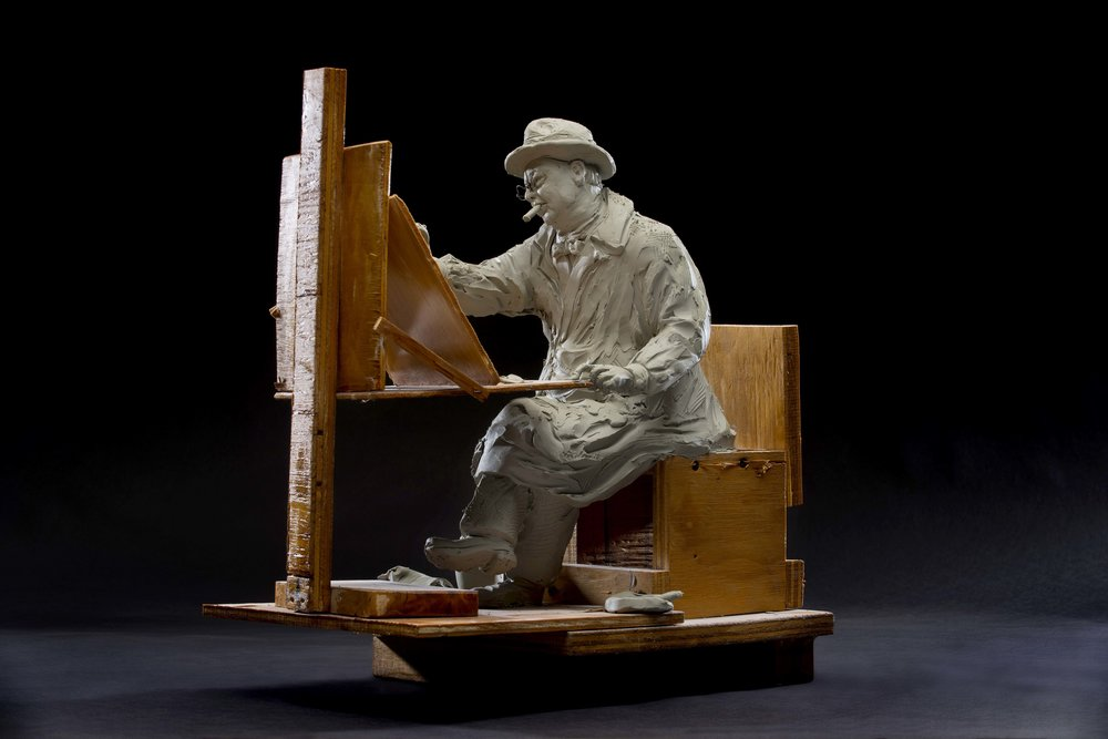 """ Maquette  for Churchill Painting"" by Seward Johnson, © 2016 The Seward Johnson Atelier, Inc.  Photo by Kenny Ek."