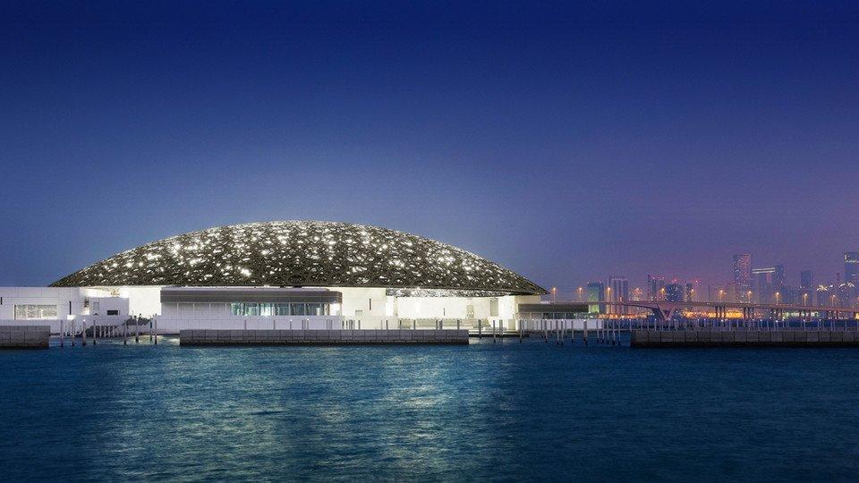 The beautiful new Louvre in Abu Dhabi.