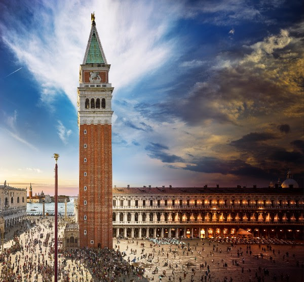 Stephen Wilkes:  Day to Night, Campanile di San Marco, Venice  2016. Archival C-Print