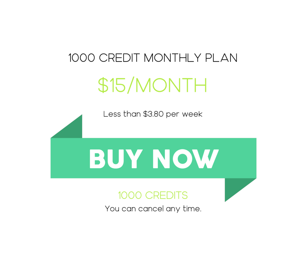1000 Credit Monthly Plan