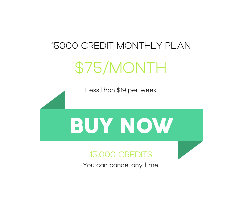 15000 Credit Monthly Plan