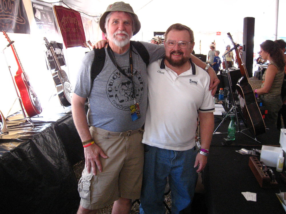 Chet with Lawson Peets at Merlefest 2009