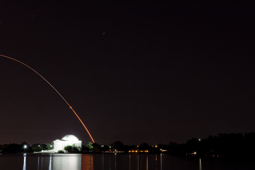 The LADEE Launch as seen from the Tidal Basin