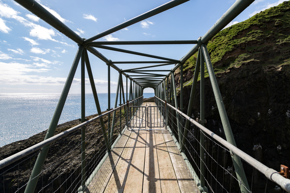 The Bridge Between Mykines and Mykines Holm. One of the Lowest Points in the Hike
