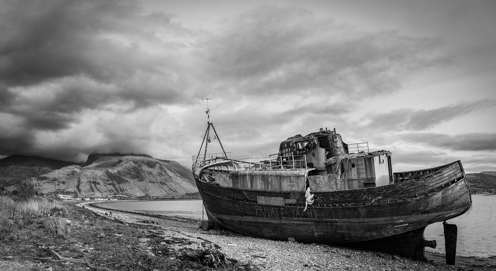 Abandoned Boat near the End of the Caledonian Canal