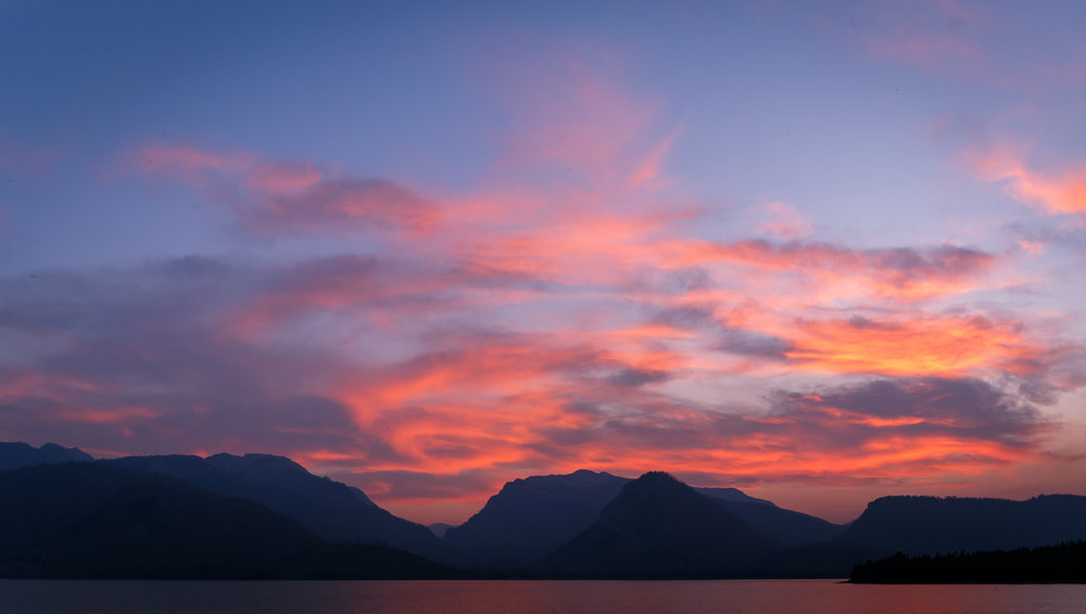 Sunset over Jackson Lake