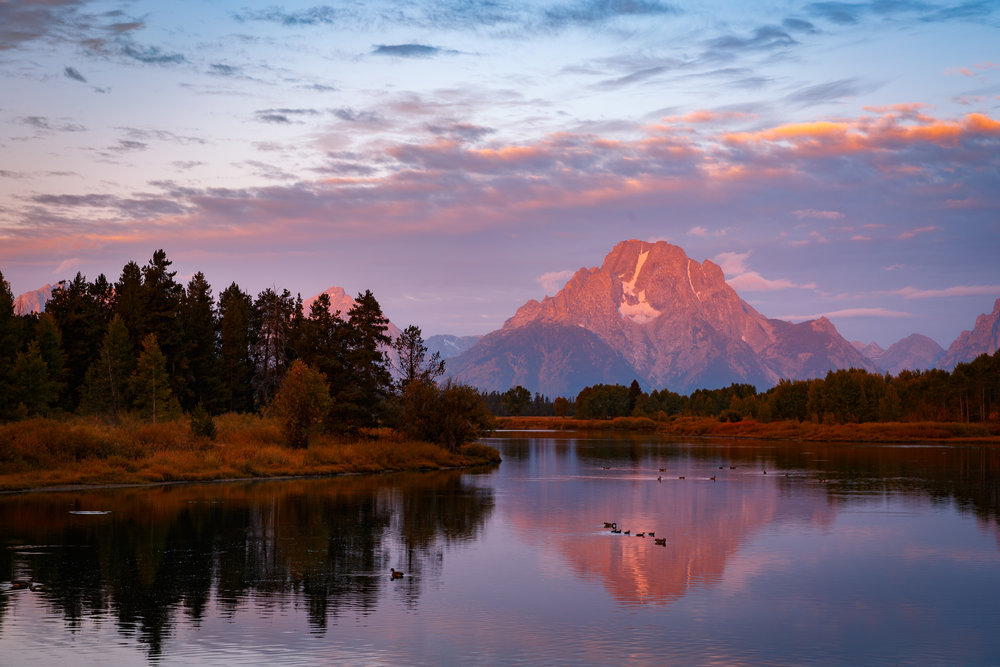 Sunrise from Oxbow Bend
