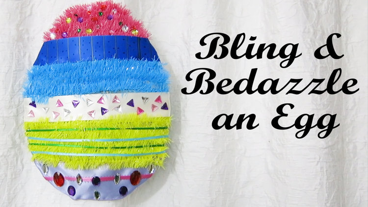 Create This One Of A Kind Bling Bedazzled Easter Egg Wreath Project Is Cheap Fast And Easy Just Buy An From Dollar Tree