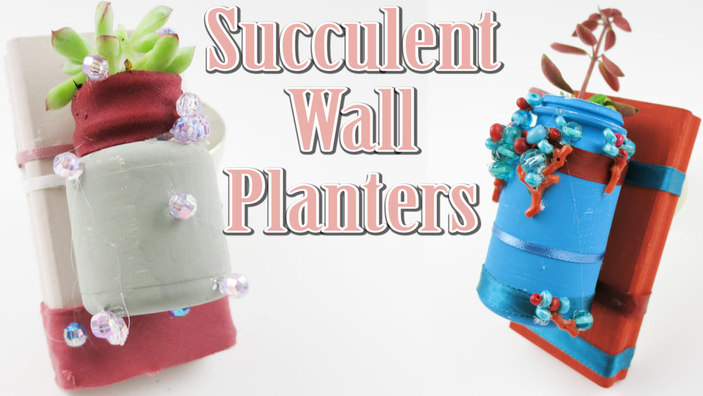 How To Make A Wall Mounted Baby Succulent Garden Planter :