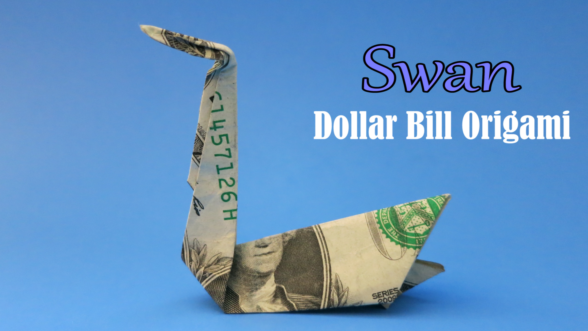 Money Origami DOLLAR SIGN Folded With Real One Dollar Bill ... | 1080x1920