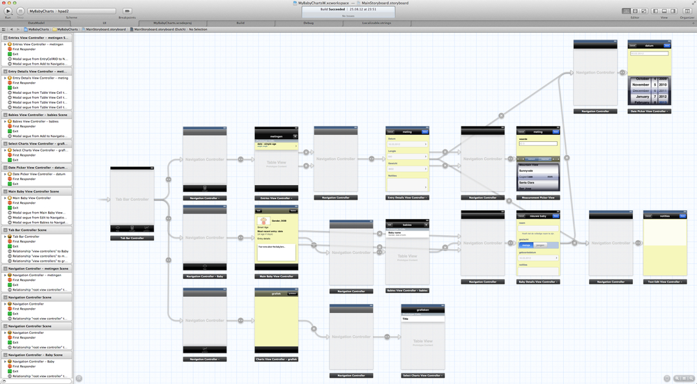 "XCode with ""storyboard"""