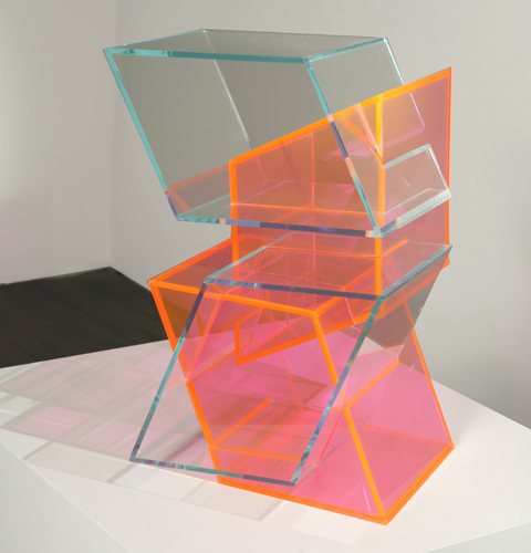 Mingled Stutter (pink), 2007 Plexiglass 17.5:2Hx12Wx13D inches : 44x31x33 cm.jpg