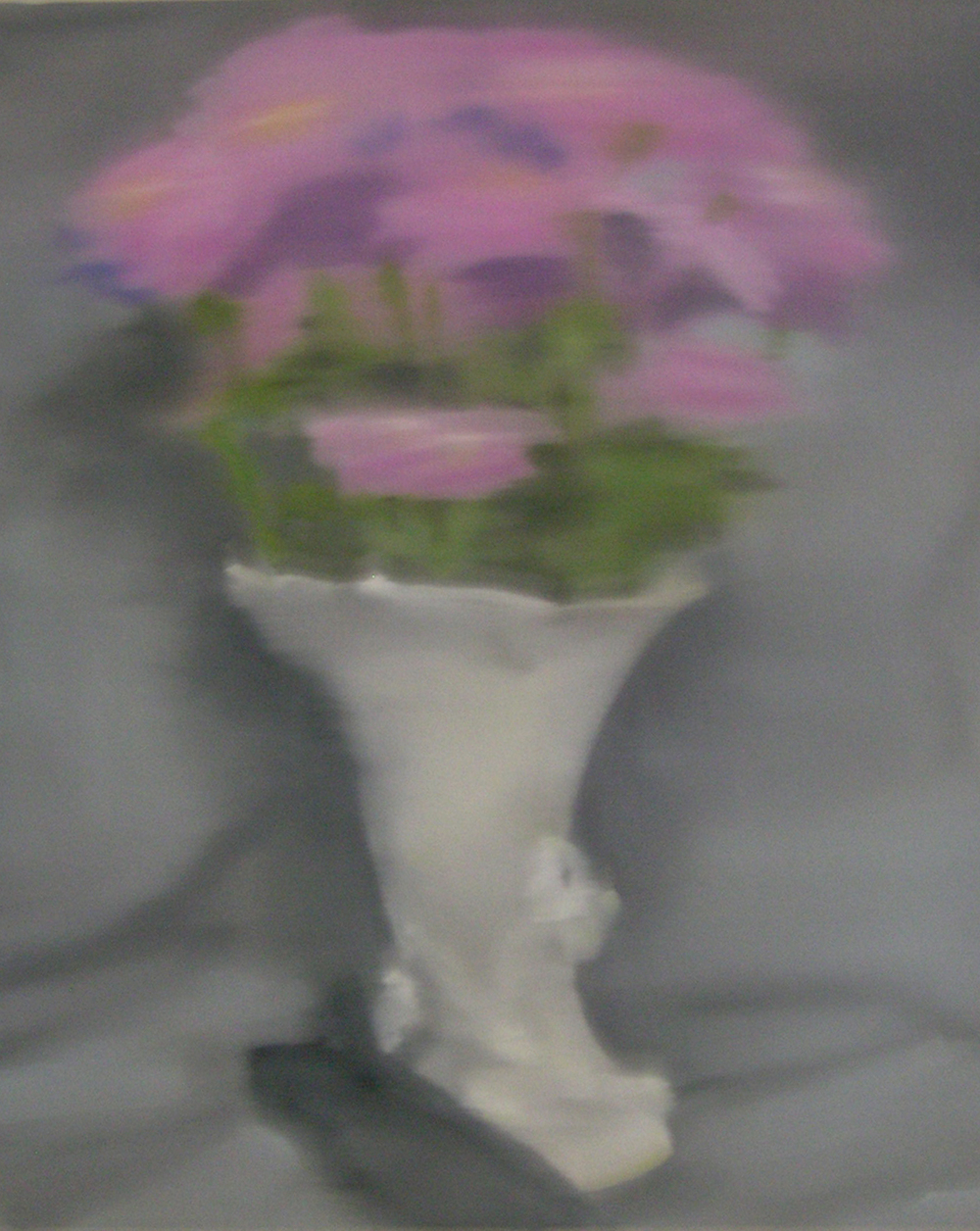 Zinnias and Black Glove;oil on canvas;30%22x26%22;2013.JPG